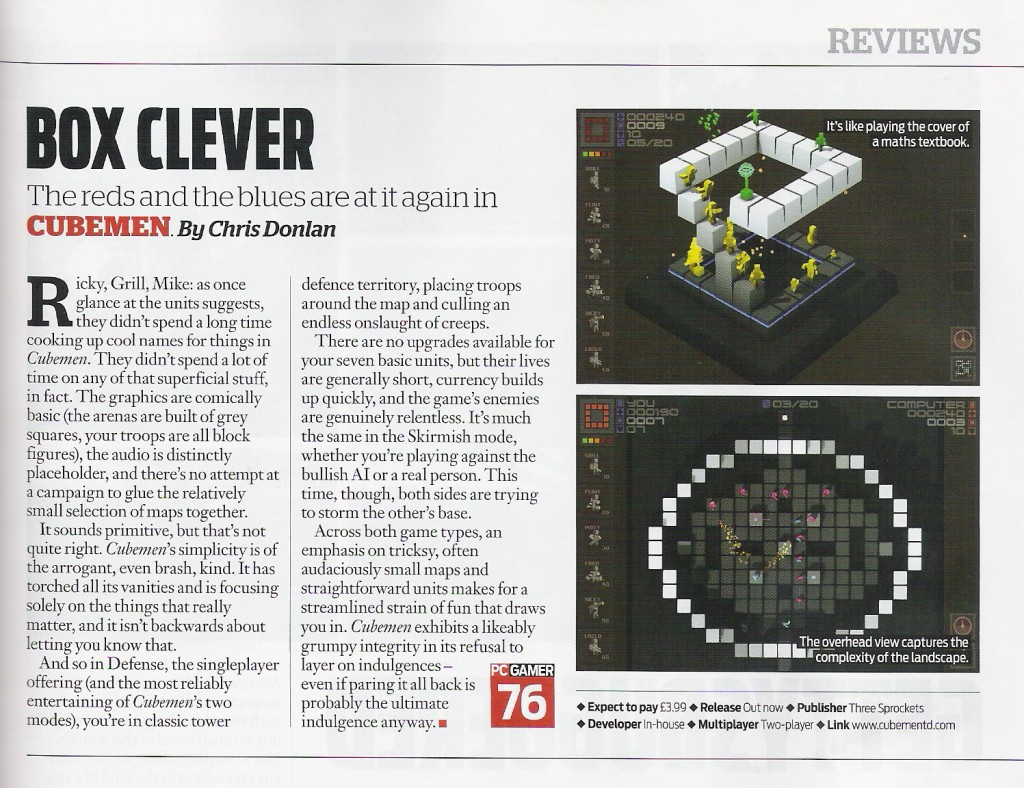 Cubemen Review PCGamer
